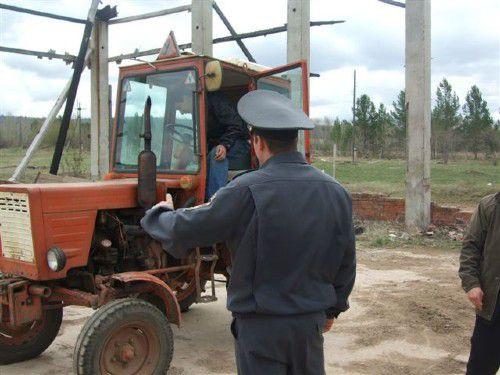 Экзамен тракториста